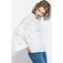 Only - Sweter Flower. Szare swetry damskie Only, z dzianiny, z okrągłym kołnierzem. W wyprzedaży za 59.90 zł.