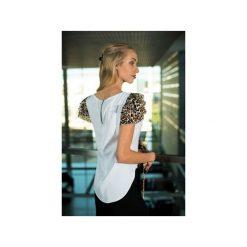 Bluzka Ocelot. Białe bluzki damskie Fevey, z motywem zwierzęcym, klasyczne, z klasycznym kołnierzykiem. Za 150.00 zł.