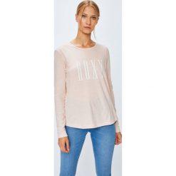 Roxy - Bluzka. Szare bluzki damskie Roxy, z nadrukiem, z bawełny, casualowe, z okrągłym kołnierzem. Za 99.90 zł.