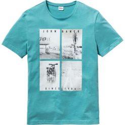 T-shirt z fotodrukiem Regular Fit bonprix zieleń morska. T-shirty męskie marki Giacomo Conti. Za 37.99 zł.