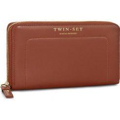 Duży Portfel Damski TWINSET - Portafoglio AA6P1B Coccio 00026. Brązowe portfele damskie Twinset, ze skóry. W wyprzedaży za 479.00 zł.