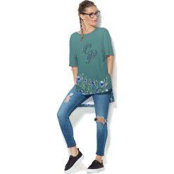 Colour Pleasure Koszulka damska CP-033 251 zielona r. uniwersalny. T-shirty damskie Colour Pleasure. Za 76.57 zł.