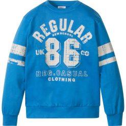 """Bluza z nadrukiem w stylu """"college"""" bonprix lodowy niebieski z nadrukiem. Bluzy dla chłopców marki Pulp. Za 24.99 zł."""