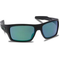 Okulary przeciwsłoneczne OAKLEY - Turbine OO9263-15 Matte Black/Jade Iridium. Czarne okulary przeciwsłoneczne męskie Oakley, z tworzywa sztucznego. W wyprzedaży za 579.00 zł.