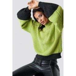 Trendyol Sweter z bufiastym rękawem - Green,Multicolor. Zielone swetry damskie Trendyol, z dzianiny. Za 100.95 zł.