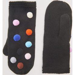 Rękawiczki z kolorowymi pomponami - Czarny. Czarne rękawiczki damskie House, w kolorowe wzory. Za 35.99 zł.