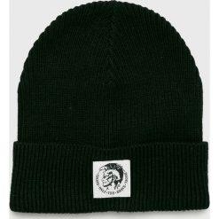 Diesel - Czapka. Czarne czapki i kapelusze męskie Diesel. W wyprzedaży za 179.90 zł.