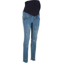 """Dżinsy ciążowe w gwiazdy bonprix niebieski """"stone"""". Niebieskie jeansy damskie bonprix. Za 124.99 zł."""