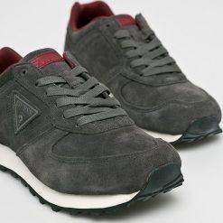 Guess Jeans - Buty Charlie. Czarne buty sportowe męskie Guess Jeans, z gumy. Za 399.90 zł.