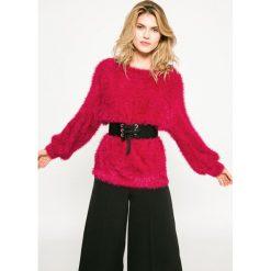 Medicine - Sweter Dark Bloom. Szare swetry damskie MEDICINE, z dzianiny, z okrągłym kołnierzem. W wyprzedaży za 59.90 zł.