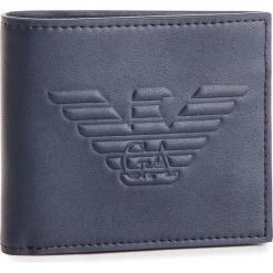 Duży Portfel Męski EMPORIO ARMANI - Y4R167 YG90J 80033 Blu Navy. Niebieskie portfele męskie Emporio Armani, ze skóry ekologicznej. Za 389.00 zł.