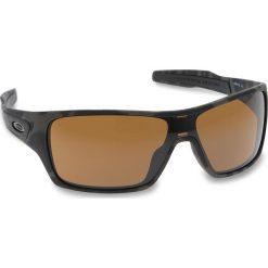 Okulary przeciwsłoneczne OAKLEY - Turbine Rotor OO9307-1732 Olive Camo/Prizm Tungsten. Czarne okulary przeciwsłoneczne męskie Oakley, z tworzywa sztucznego. W wyprzedaży za 549.00 zł.
