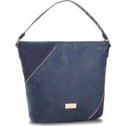 Torebka MONNARI - BAGA060-013 Navy. Niebieskie torebki do ręki damskie Monnari, z materiału. W wyprzedaży za 199.00 zł.