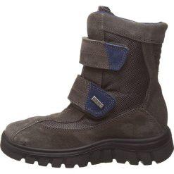 """Kozaki zimowe """"Bazena"""" w kolorze antracytowym. Buty zimowe chłopięce marki Geox. W wyprzedaży za 215.95 zł."""