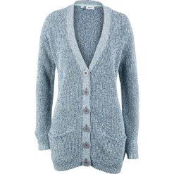 Sweter rozpinany z kieszeniami bonprix jasny indygo - pastelowy miętowy melanż. Kardigany damskie marki bonprix. Za 69.99 zł.
