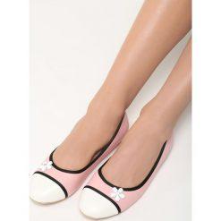 Różowe Balerinki White Daisy. Białe baleriny damskie Born2be, ze skóry. Za 39.99 zł.