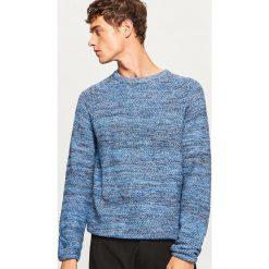 Sweter z raglanowym rękawem - Niebieski. Swetry przez głowę męskie marki Giacomo Conti. W wyprzedaży za 69.99 zł.