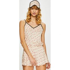 Dkny - Kombinezon piżamowy. Szare piżamy damskie DKNY, z poliesteru, na ramiączkach. Za 299.90 zł.