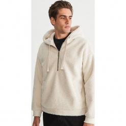 Polarowa bluza z kapturem - Kremowy. Białe bluzy męskie Reserved, z polaru. Za 179.99 zł.