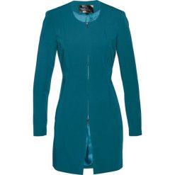 Długi żakiet bonprix niebieskozielony morski. Zielone żakiety damskie bonprix. Za 149.99 zł.