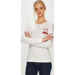 Converse - Bluzka. Szare bluzki damskie Converse, z nadrukiem, z bawełny, z okrągłym kołnierzem. Za 169.90 zł.