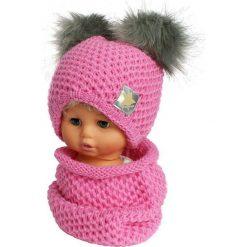 Czapka dziecięca z kominkiem CZ+K 173H. Różowe czapki dla dzieci Proman. Za 61.61 zł.