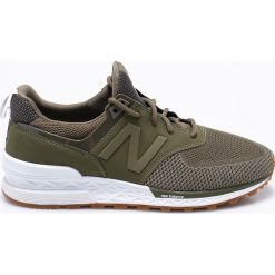 New Balance - Buty MS574EMO. Brązowe buty sportowe męskie New Balance, z materiału. W wyprzedaży za 429.90 zł.