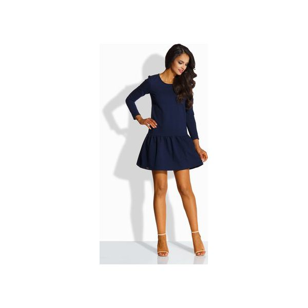 020d49acb2 LEMONIADE L218 Elegancka sukienka z kokardą - Niebieskie sukienki ...