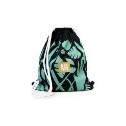 Plecak DŻUNGLA. Czarne plecaki damskie Dwie lewe ręce, z nadrukiem, z bawełny. Za 149.00 zł.