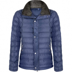 Kurtka zimowa w kolorze niebieskim. Niebieskie kurtki męskie Giorgio di Mare, na zimę, z materiału. W wyprzedaży za 347.95 zł.