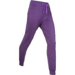 Spodnie dresowe termoaktywne funkcyjne, długie bonprix ciemnofioletowy melanż. Fioletowe spodnie dresowe damskie bonprix, melanż, z dresówki. Za 89.99 zł.