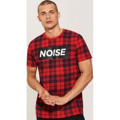 T-shirt w kratę - Czerwony. T-shirty męskie marki Giacomo Conti. W wyprzedaży za 29.99 zł.