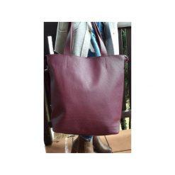 Duża skórzana torba Hobo. Czerwone torby na laptopa damskie Pracownia6-9, ze skóry. Za 250.00 zł.