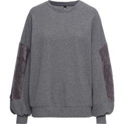Bluza ze sztucznym futerkiem bonprix szary melanż. Bluzy damskie marki KALENJI. Za 119.99 zł.
