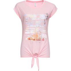 T-shirt z przewiązaniem bonprix jasnoróżowy pudrowy. T-shirty damskie marki DOMYOS. Za 37.99 zł.