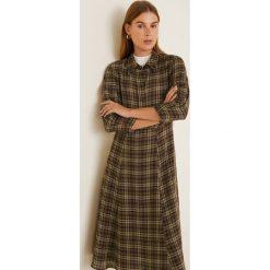 Mango - Sukienka Ingrid23. Brązowe sukienki damskie Mango, z materiału, casualowe, z długim rękawem. Za 229.90 zł.