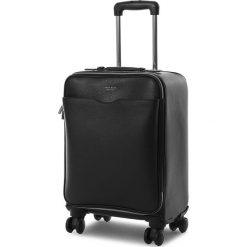 Mała Twarda Walizka BOSS - Signature_Trolley 50385614  001. Czarne walizki damskie Boss, ze skóry. Za 4,219.00 zł.