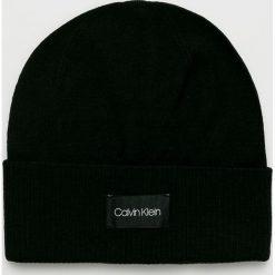 Calvin Klein - Czapka. Czarne czapki i kapelusze męskie Calvin Klein. Za 199.90 zł.