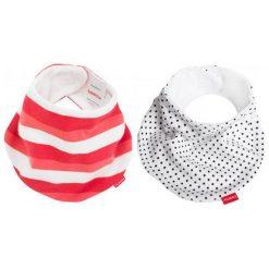 Beemy Śliniaczki Red Stripes & Pixies. Czerwone śliniaki dla dzieci Beemy, z materiału. W wyprzedaży za 45.00 zł.
