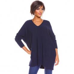"""Sweter """"Lolita"""" w kolorze granatowym. Niebieskie swetry damskie So Cachemire, z kaszmiru. W wyprzedaży za 186.95 zł."""