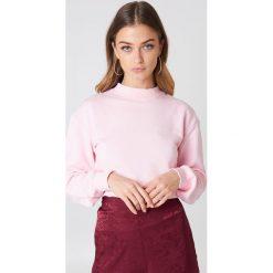 NA-KD Basic Bluza basic - Pink. Różowe bluzy damskie NA-KD Basic, prążkowane. Za 100.95 zł.