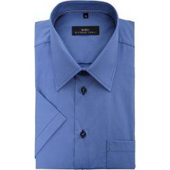 Koszula FABIO 15-01-21. Niebieskie koszule męskie Giacomo Conti, na lato, z bawełny, z krótkim rękawem. Za 199.00 zł.
