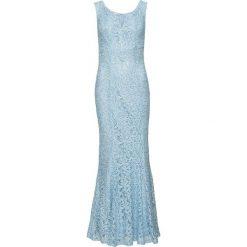 Sukienka koronkowa bonprix jasnoniebieski. Niebieskie sukienki damskie bonprix, z koronki, na ramiączkach. Za 199.99 zł.