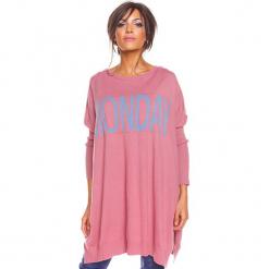 """Sweter """"Lisa"""" w kolorze jasnoróżowym. Czerwone swetry damskie So Cachemire, z okrągłym kołnierzem. W wyprzedaży za 173.95 zł."""