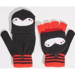 Rękawiczki pingwiny - Czarny. Czarne rękawiczki damskie Sinsay. Za 19.99 zł.