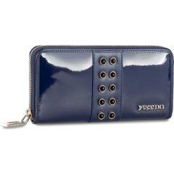 Duży Portfel Damski PUCCINI - BS2705 Blue 7. Niebieskie portfele damskie Puccini, z lakierowanej skóry. Za 159.00 zł.