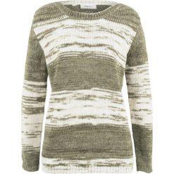 Sweter bonprix ciemnooliwkowy wzorzysty. Swetry damskie marki bonprix. Za 59.99 zł.