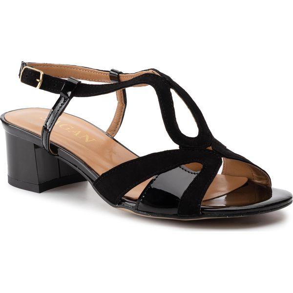 Sandały SAGAN 4028 Czarny Lakier   Sandały, Klapki, Czarny