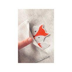 Bluza raglan kieszonka lisek. Szare bluzy damskie One mug a day, z aplikacjami, z bawełny. Za 139.00 zł.