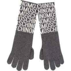 Rękawiczki Damskie MOSCHINO - 65132 M1881 015. Szare rękawiczki damskie MOSCHINO, z kaszmiru. Za 369.00 zł.